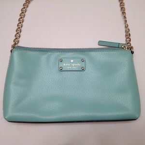 kate spade new york teal evening bag baguette